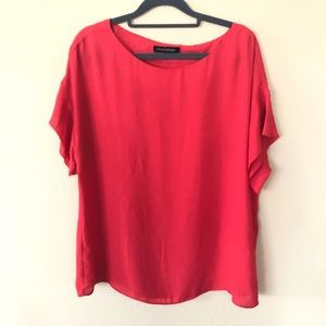 Banana Republic Red Career Blouse Size Large